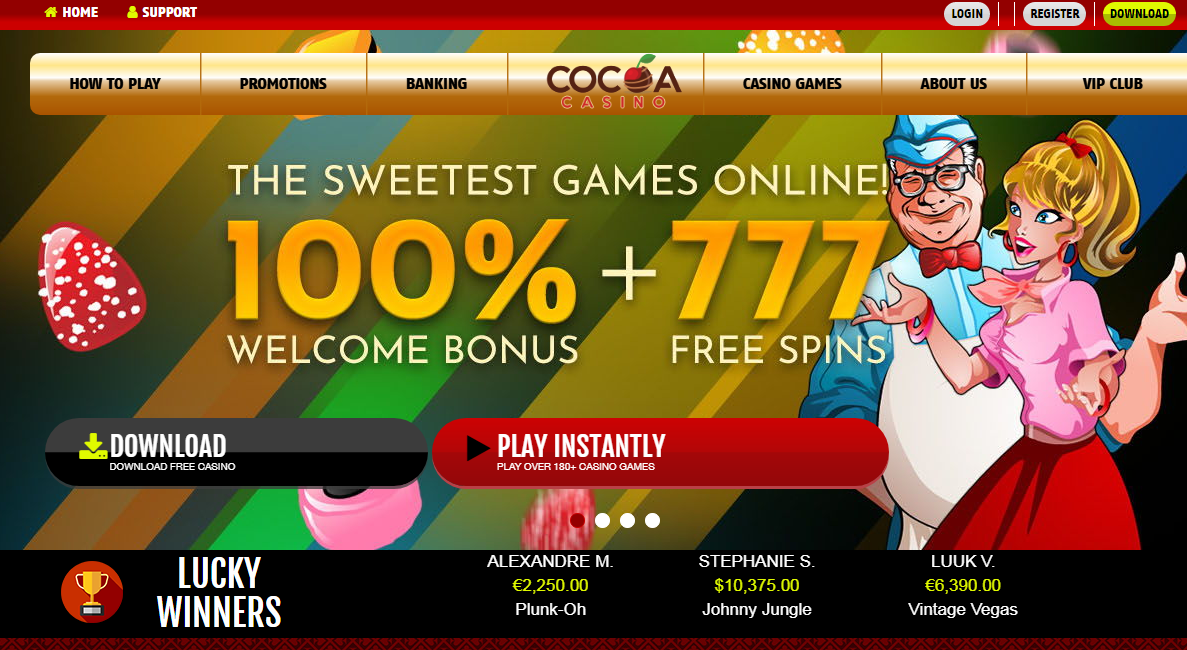 Cocoa casino review - the sweetest games online