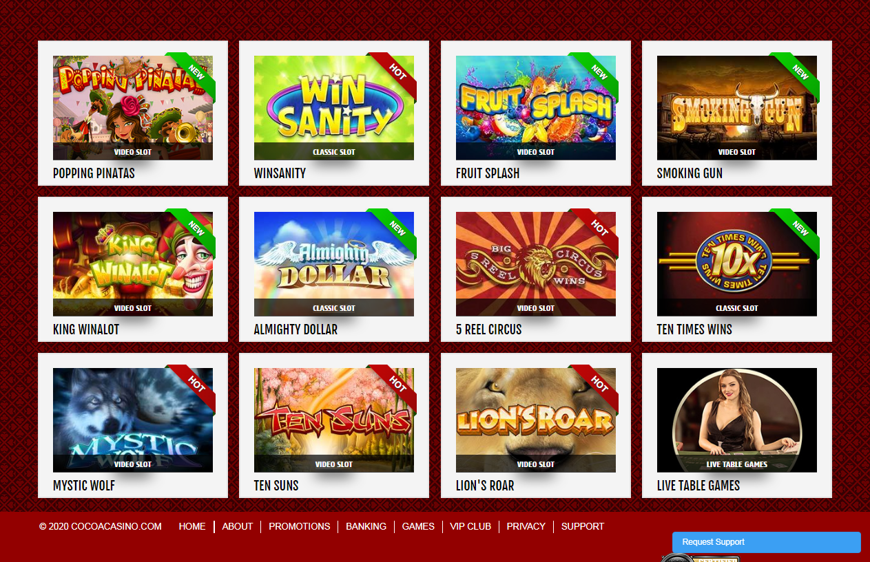 Play the Sweetest Games - Cocoa Casino